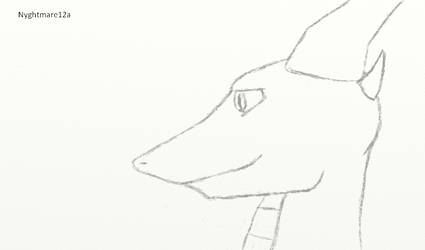 Nyght [pencil side profile] by Nyghtmare12a