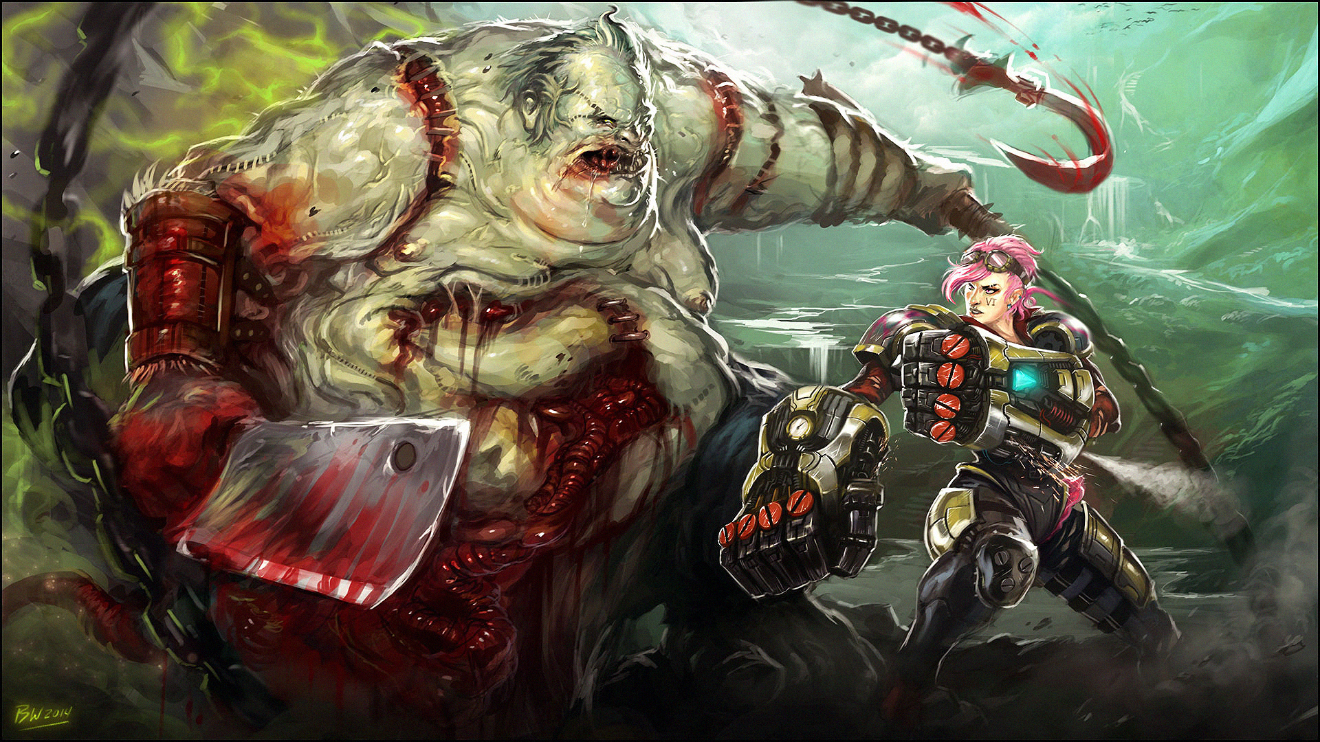 Pudge vs. Vi - Dota 2 vs. League of Legends by Bradwhitlam