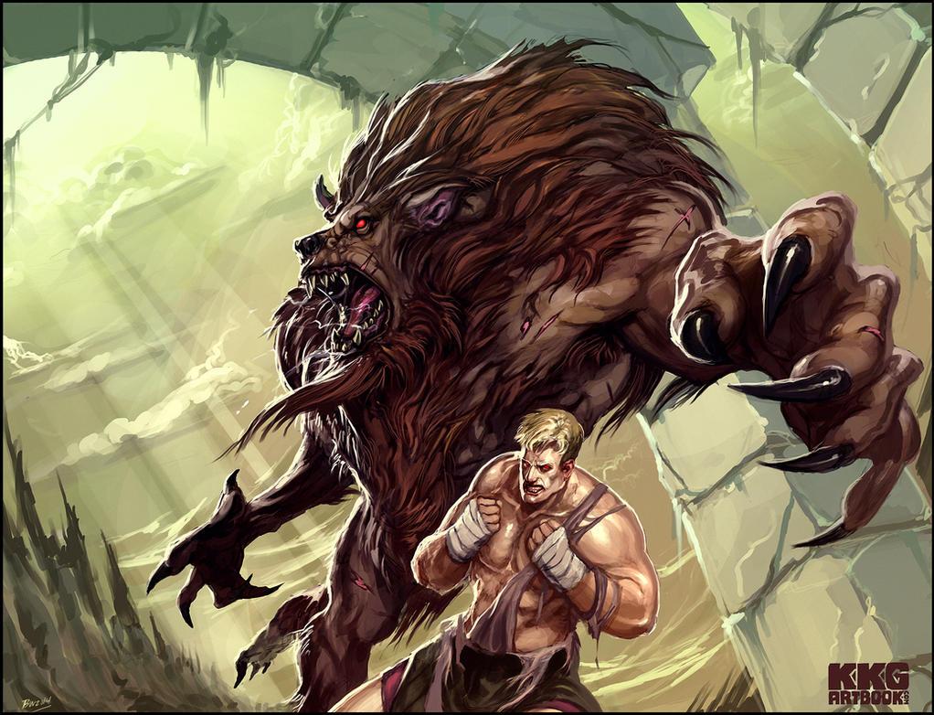 Altered beast for kkg art book by bradwhitlam on deviantart for Altered beast