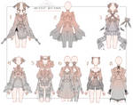 OPEN Auction - Outfit Adoptable Set 3 your colors by iononion