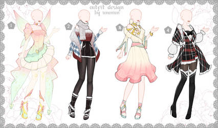 FULL BODY [CLOSED] Auction Outfit Adoptable SET 3 by iononion