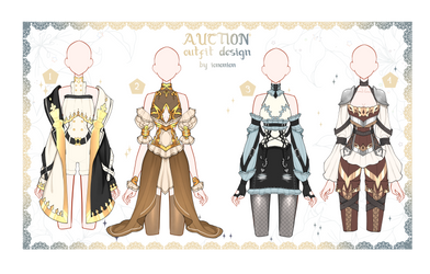 OPEN 3 Auction Outfit Adoptable set 40 by iononion