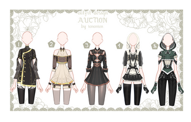 OPEN Auction Outfit Adoptable set 41 by iononion