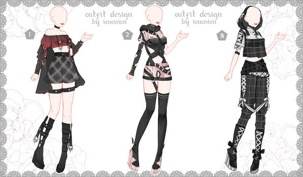 FULL BODY [OPEN] Auction Outfit Adoptable SET 6
