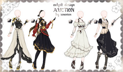 FULL BODY [CLOSED] Auction Outfit Adoptable SET 7