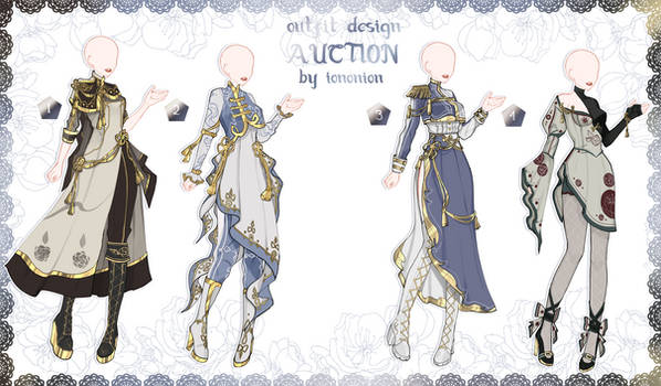 FULL BODY [OPEN] Auction Outfit Adoptable SET 8