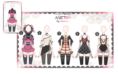 OPEN Auction Outfit Adoptable set 45 by iononion