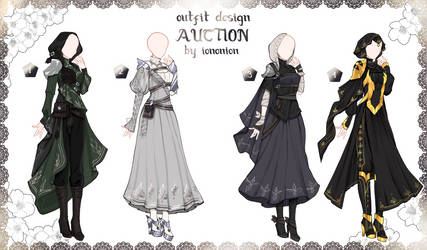 FULL BODY2 [CLOSED] Auction Outfit Adoptable SET 5 by iononion