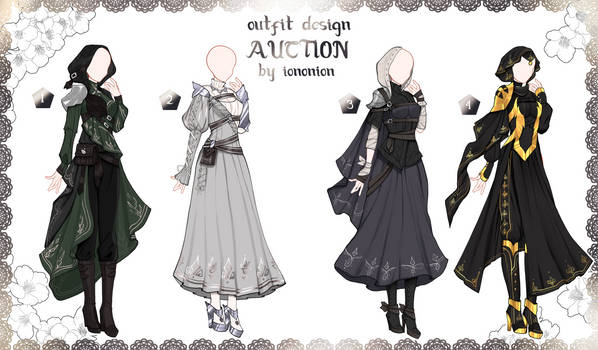 FULL BODY2 [OPEN] Auction Outfit Adoptable SET 5