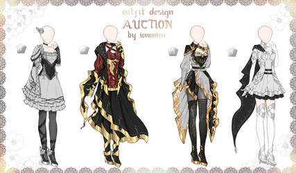 FULL BODY2 [OPEN] Auction Outfit Adoptable SET 6 by iononion