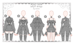 CYOP [OPEN] Auction Outfit Adoptable SET 47 by iononion