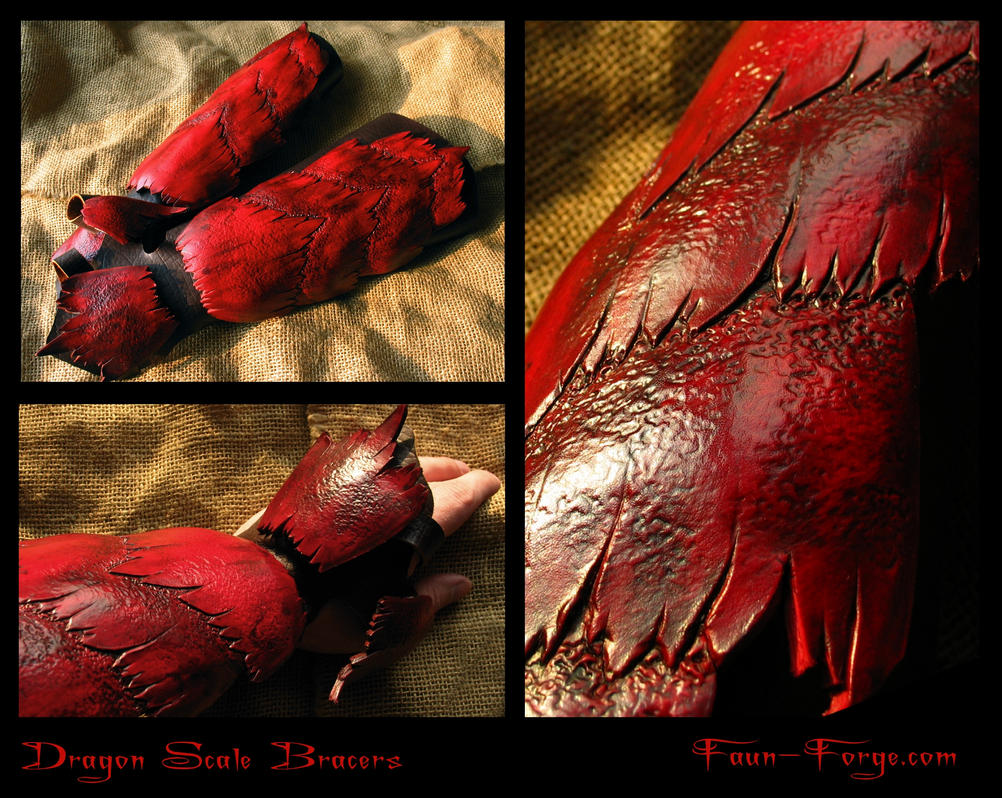 Dragon Scale Bracers by farmerownia