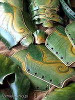 Some green leather stuff by farmerownia