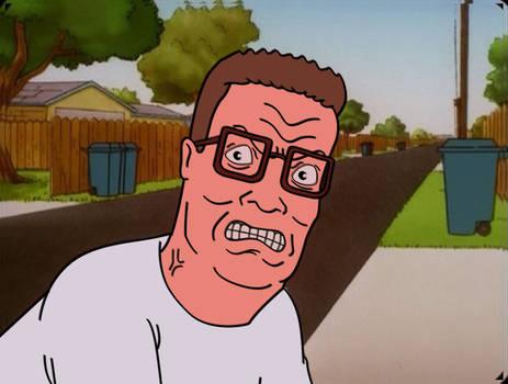 Hank angry