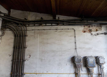 Pipes or wall