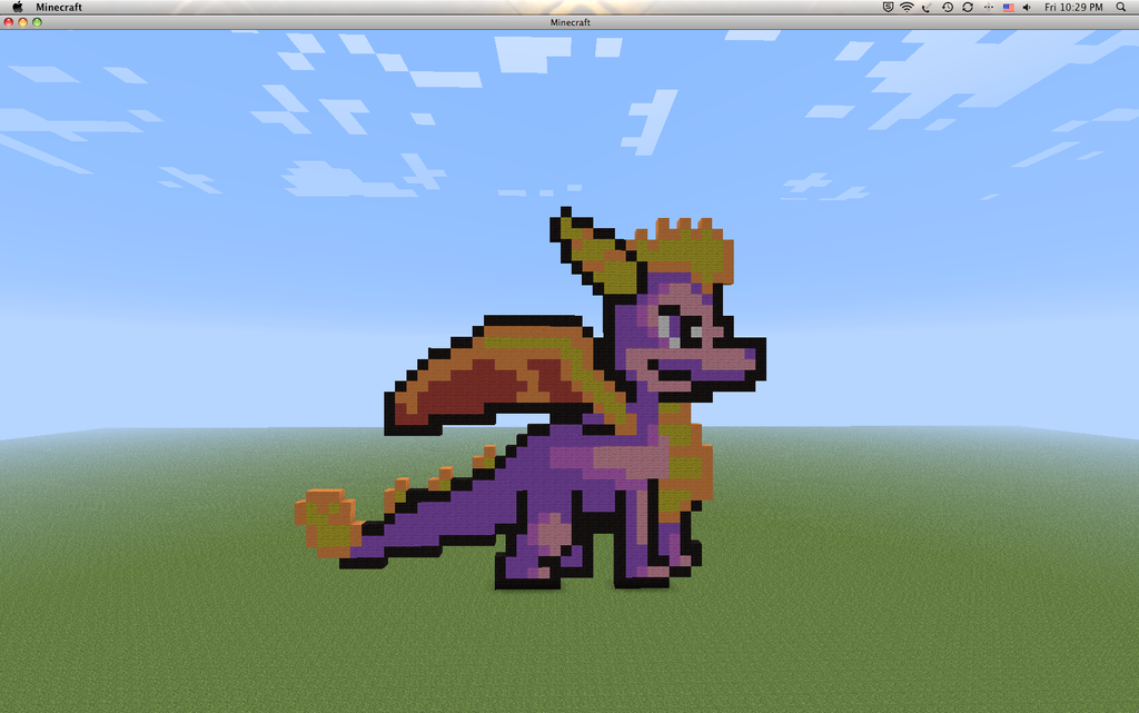 Minecraft Pixel - Spyro The Dragon by Gem-A-Knight on ... | 1024 x 640 png 521kB