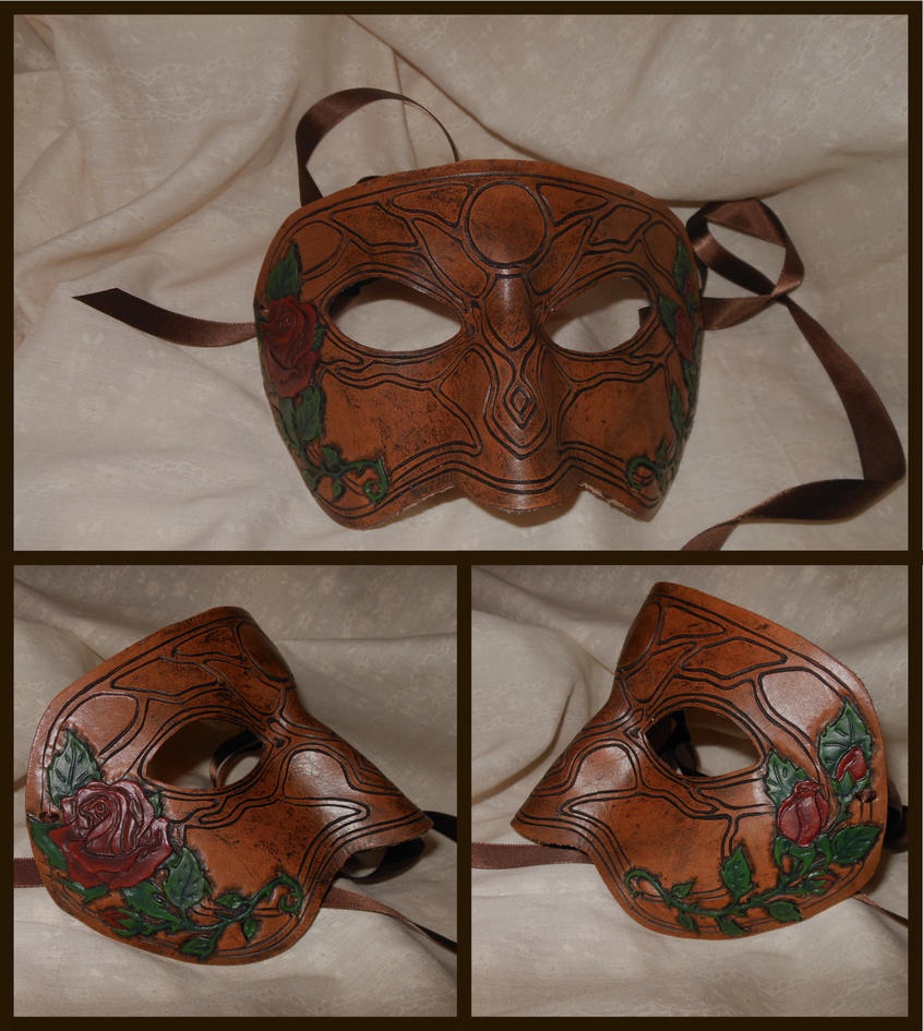 Leather Rose Mask by Rebecca-Grant