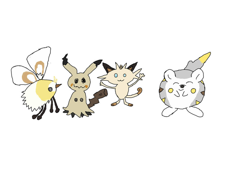 meowth with alola pokemon by ragingcatsire