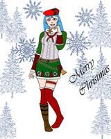 Tifa Silgarei Christmas by neuroticchaos
