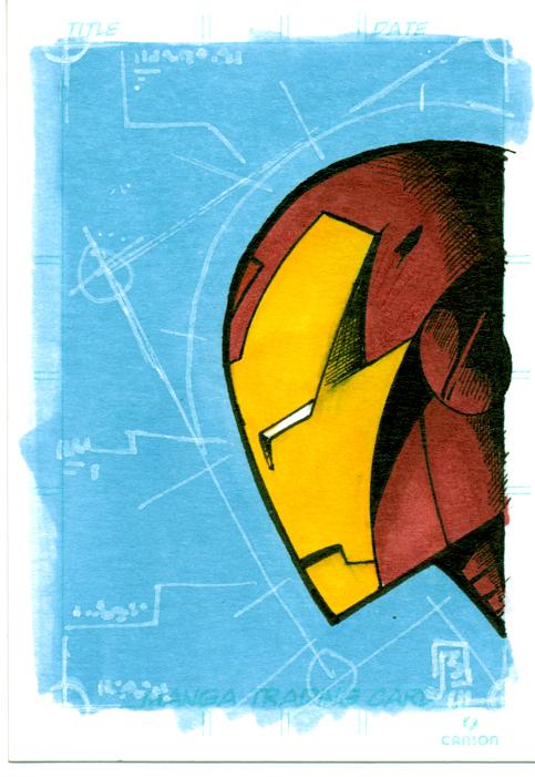 iron man trading card by giberwitz