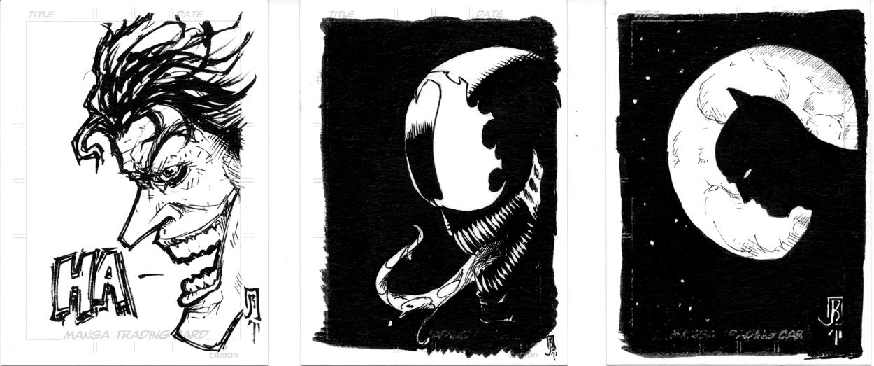 Joker venom batman sketch card by giberwitz on deviantart