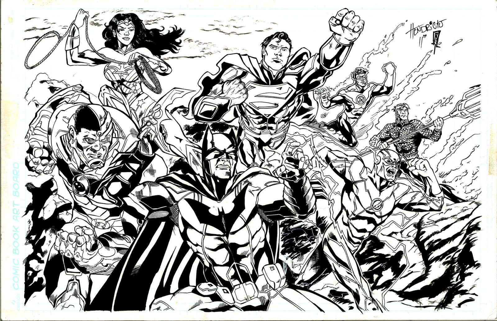 Justice League Pinup By Giberwitz On DeviantArt