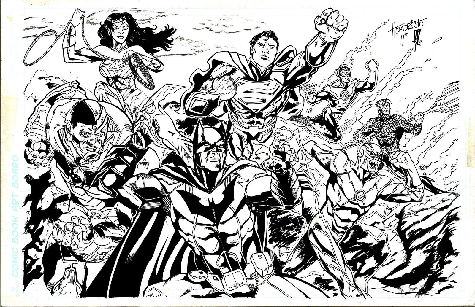 Coloring pages justice league - Justice League Pinup By Giberwitz Justice League Pinup By Giberwitz