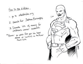 St Baldrick's Superman by giberwitz