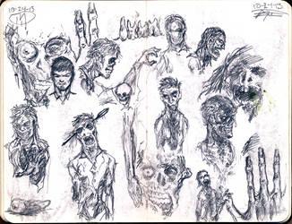 Sketchbook Zombies by giberwitz