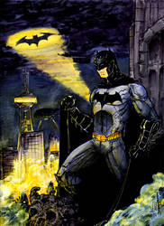 Batman 9x12 Full Color by giberwitz