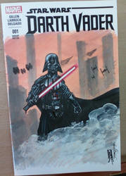 Darth Vader 1 sketch cover by giberwitz