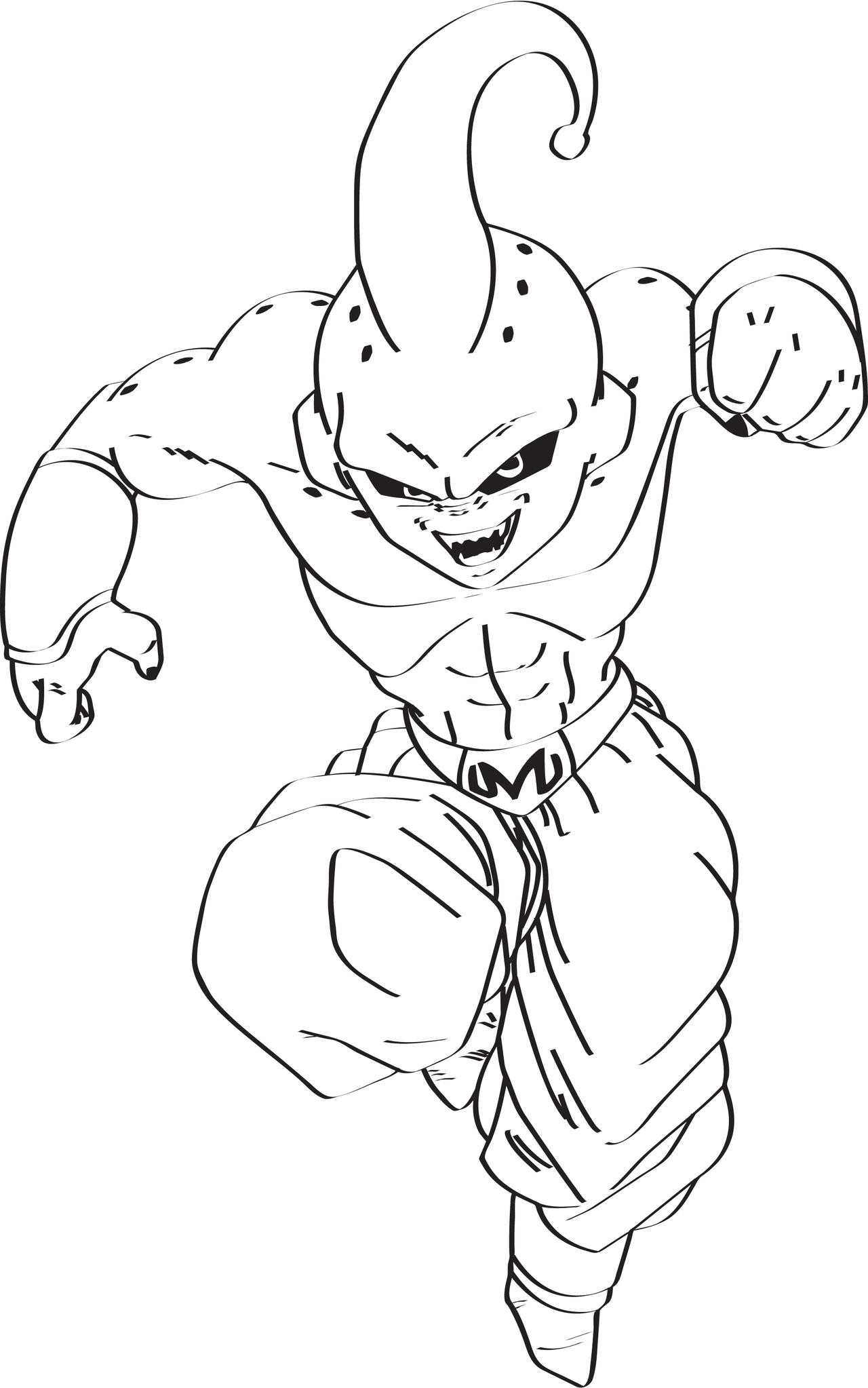 majin buu coloring pages - majin buu by palexanos on deviantart
