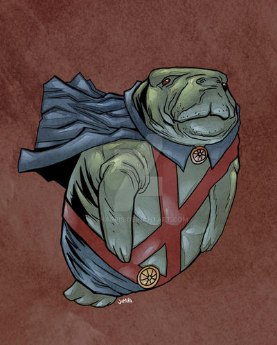 Martian Manatee Hunter by jharris