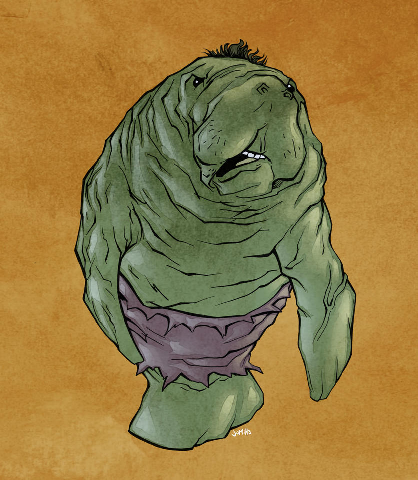Hulk Manatee by jharris