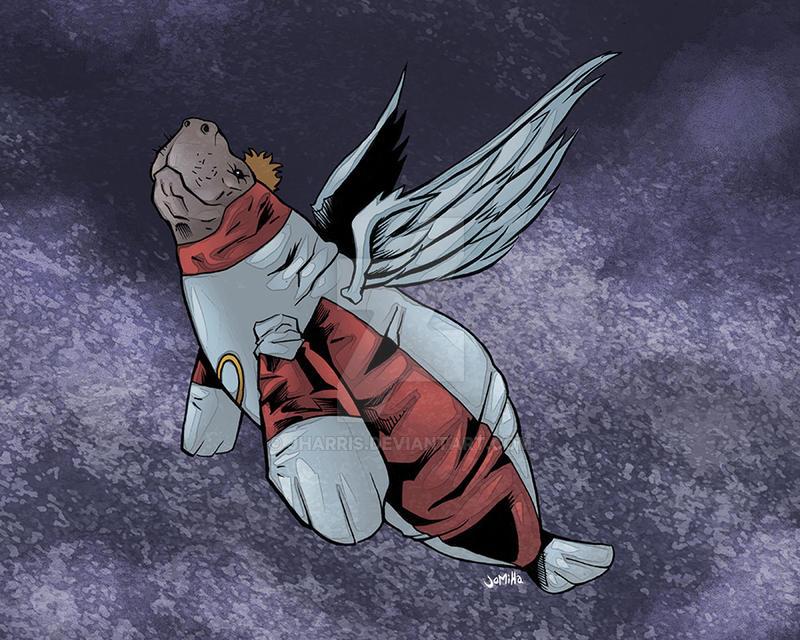 Angel Manatee by jharris