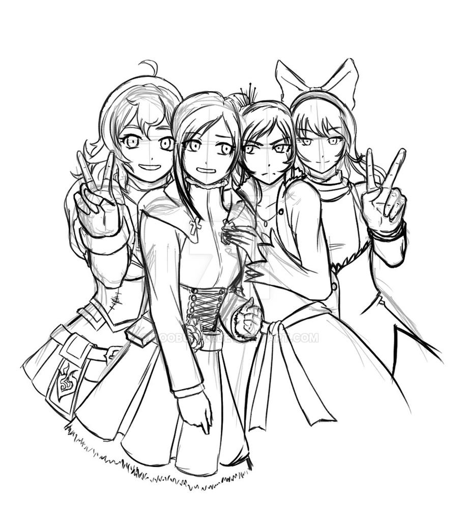 Image Result For Rwby Coloring Page