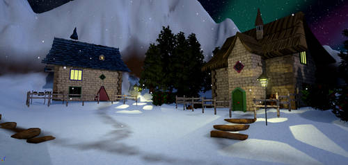 North Pole Market - village