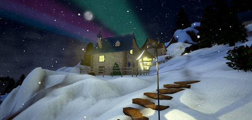 North Pole Market - house on the hill