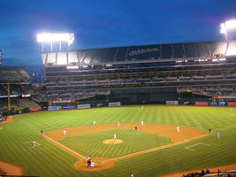 Oakland A's - At Night by DigitalVampire107