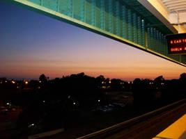 BART Station - at Night by DigitalVampire107