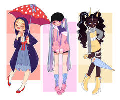 Rain Themed Adopts AUCTION : CLOSED by eight-legs