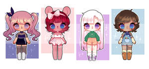 OC Redesign Adopts : CLOSED by eight-legs