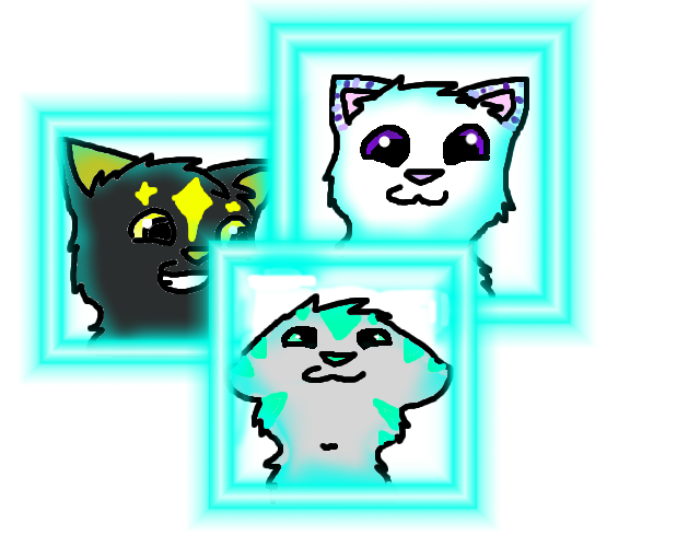 The three glowing besties by ThatCreativeCat