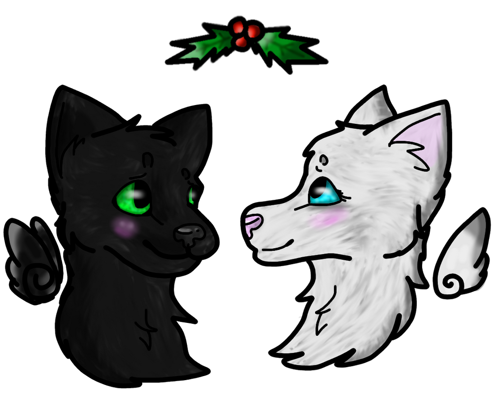 So we Smile Below this Mistletoe .:REQUEST:. by ThatCreativeCat