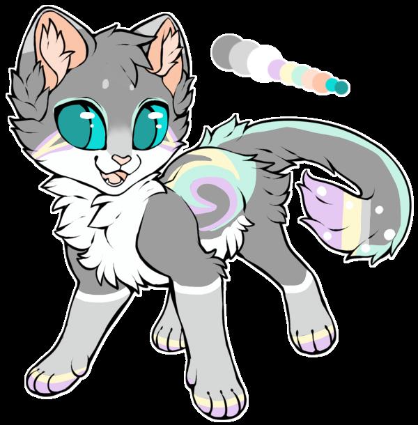 [AUC] Grey n' Pastel Kitten~! -CLOSED- by ThatCreativeCat