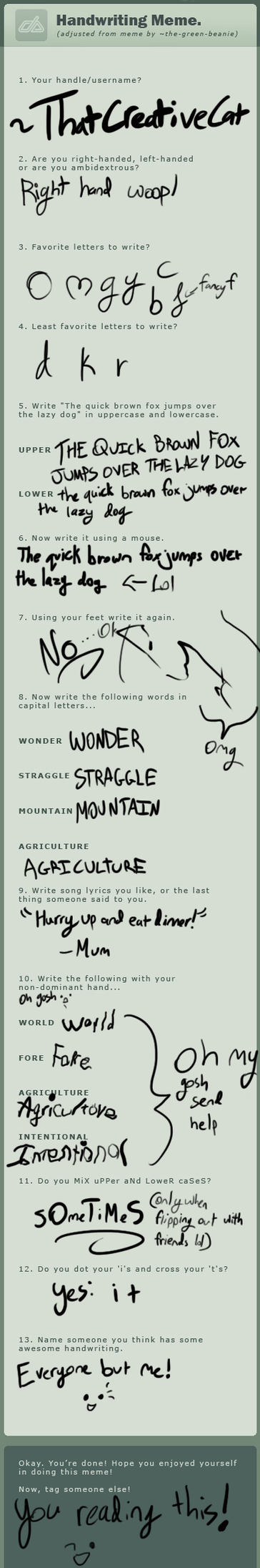 Handwriting Meme by ThatCreativeCat