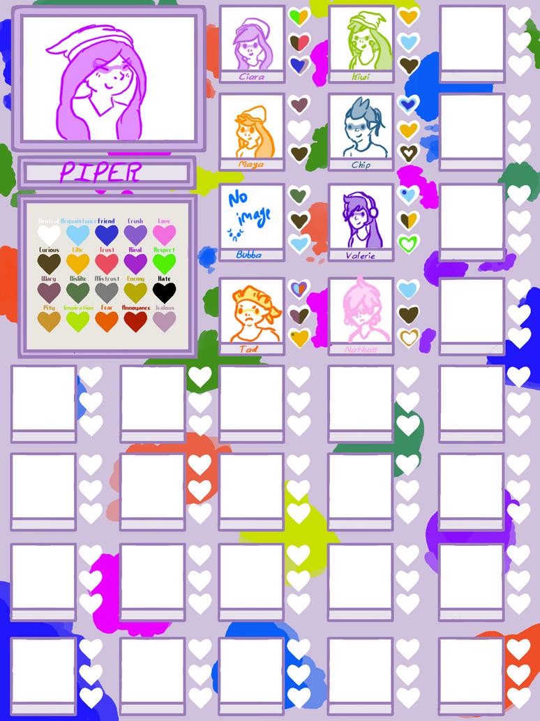 PTT Heart Chart || Piper by ThatCreativeCat