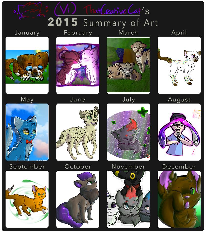 2015 Art Summary by ThatCreativeCat