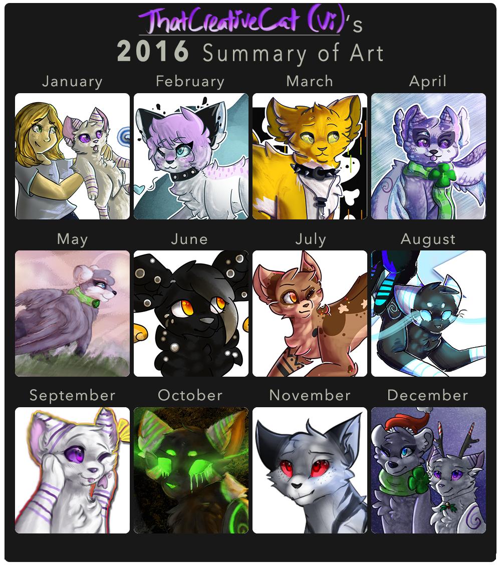 2016 Art Summary by ThatCreativeCat