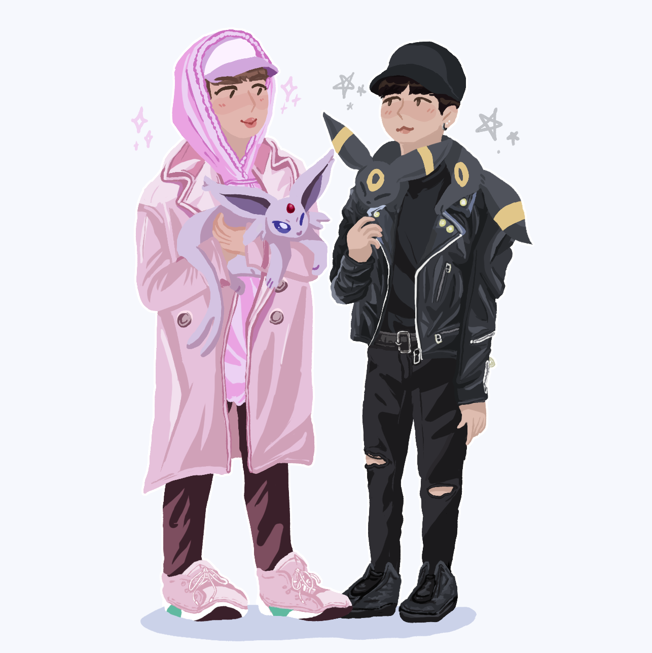 yoonjin but they got pokemon by ThatCreativeCat
